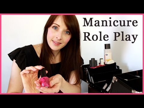 ASMR Role Play - Spa Manicure / Painting Nails - Personal At