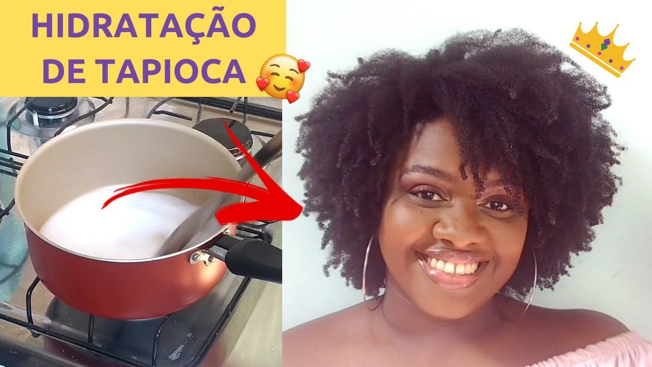 Download COMO FAZER HIDRATAÇÃO CASEIRA DE TAPIOCA NO CABELO CRESPO ♡ | Ana Carolina