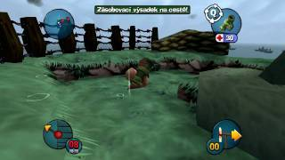 Worms 3D | Mission 1 - D-Day (Den D) - 720p HD
