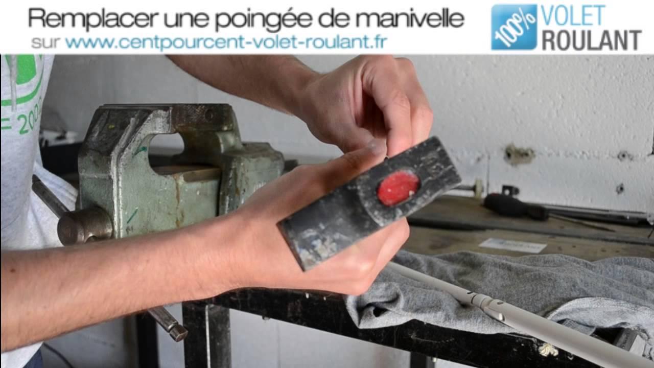 Remplacer Une Poignee De Manivelle 100 Volet Roulant Youtube