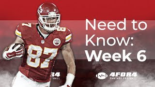 Fantasy Football Week 6: Everything You Need to Know