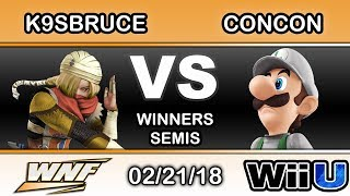 WNF 1.3 - K9sbruce (Sheik) Vs. Mr. ConCon (Luigi) Winners Semis - Smash 4