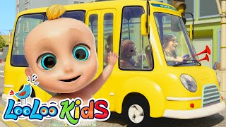 The Wheels On The Bus - Fun Songs for Children | LooLoo Kids thumbnail