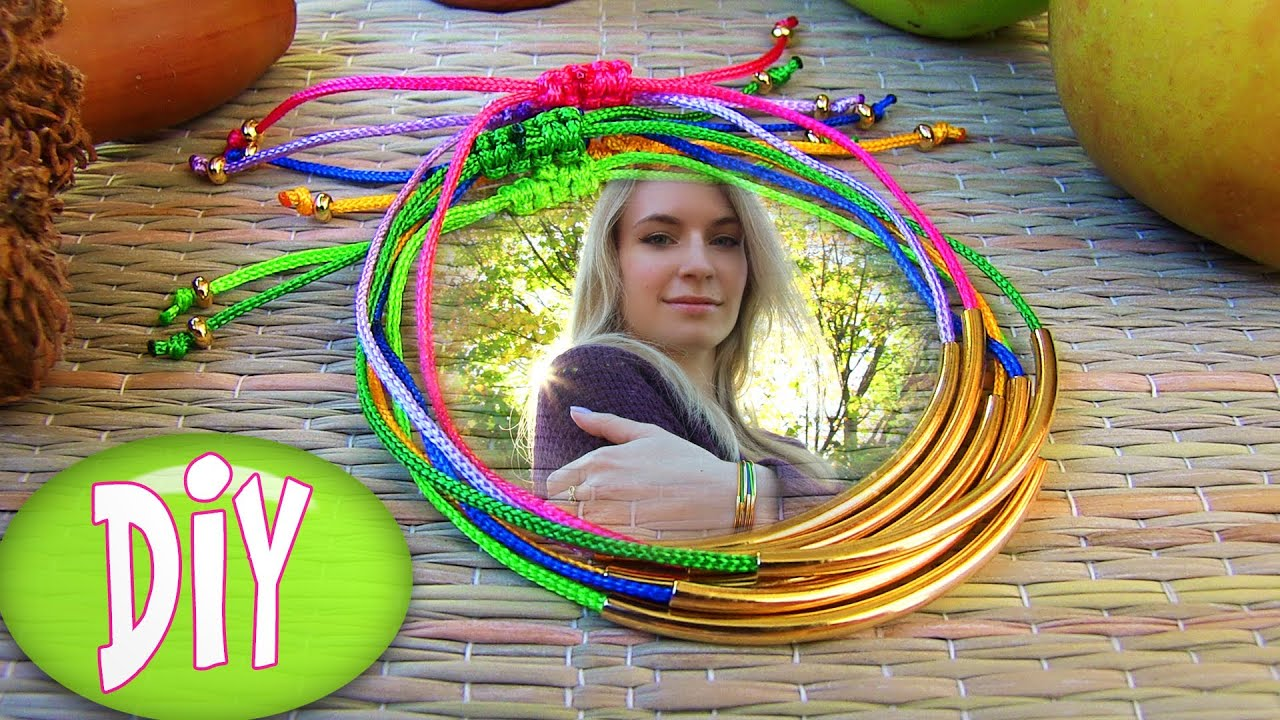 bracelets diy tube bracelet bracelet making tutorial out