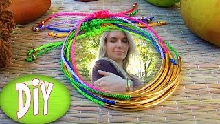 Bracelets: DIY Tube Bracelet! Bracelet Making Tutorial Out of String & Tube charm Thumbnail