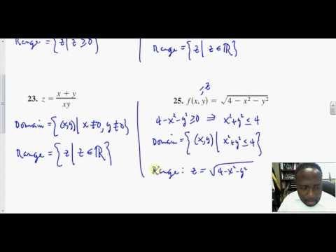 13 1 Intro to Functions of Several Variables   Find the Domain and Range