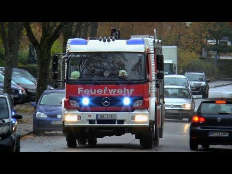 [PKW-Überschlag] HLF 10 Feuerwehr Böblingen Hauptamtliche Wache