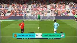 MANCHESTER UNITED vs MANCHESTER CITY | Penalty Shootout | PES 2018 Gameplay PC