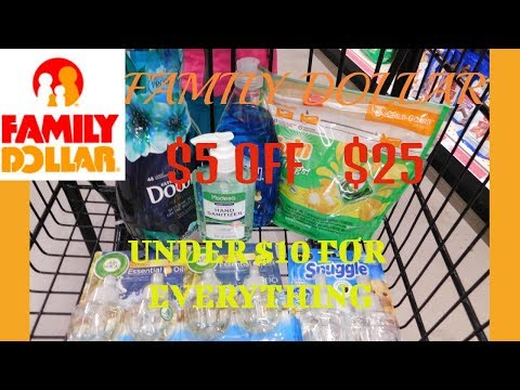 FAMILY DOLLAR|$5 OFF $25 SUCCESS| WORKING WITH WHAT I GOT!!!