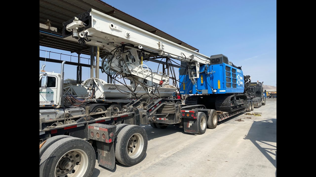 Loading a monster drill rig in Las Vegas -- 09/17/20