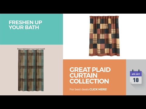 Great Plaid Curtain Collection Freshen Up Your Bath