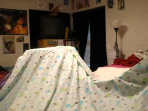 MASSIVE BLANKET FORT IN DORM ROOM & MASSIVE BLANKET FORT IN DORM ROOM - YouTube