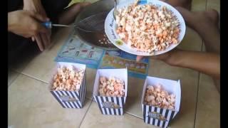 Cara membuat popcorn rainbow