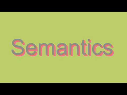 How to Pronounce Semantics