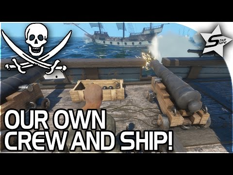 WE GOT OUR OWN CREW & SHIP!! - The YouTuber Battles of the Seven Seas! - Blackwake Gameplay