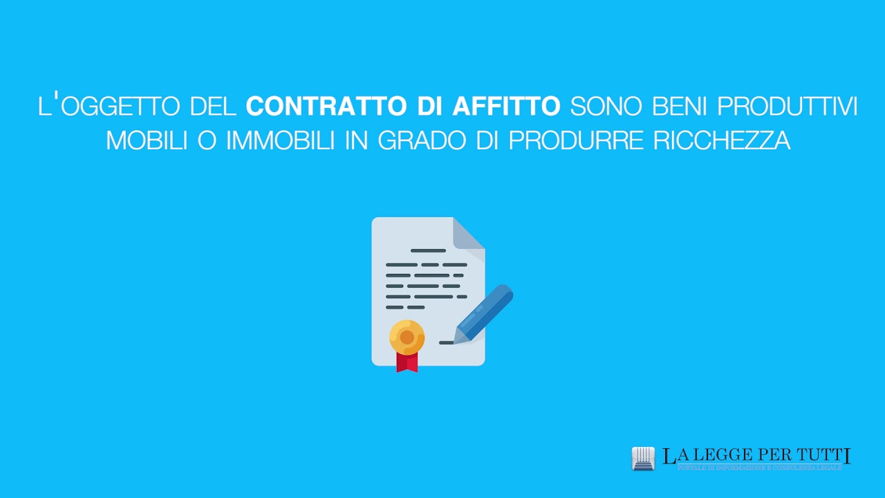 Differenza tra contratto di affitto e locazione youtube for Contratto di locazione 4 4 modello