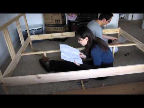 Putting Together The Ikea Fjellse Double Bed Frame Doovi