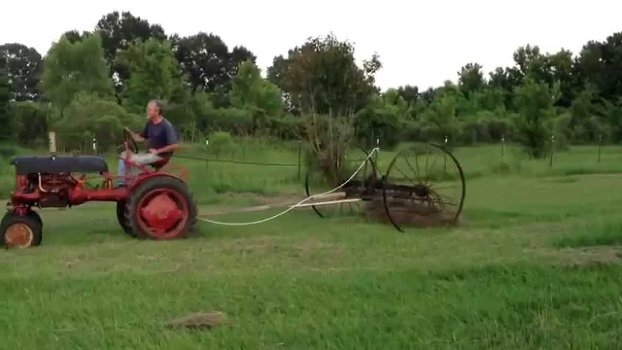 Raking Hay With the '47 Farmall Cub - YouTube