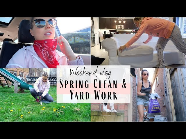 Weekend Vlog | Spring Clean and Do Yard Work With Me