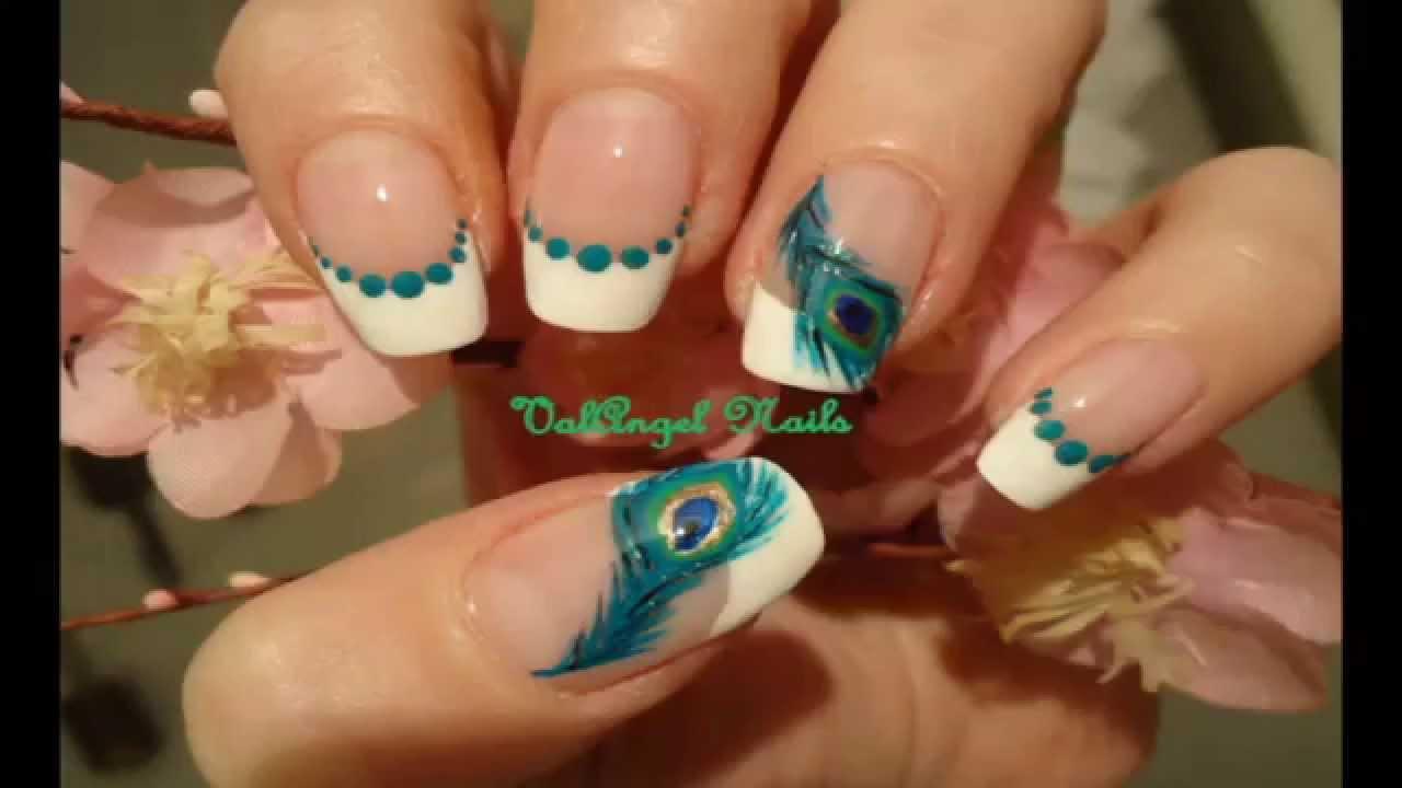 Nail Art Tutorial Peacock Feather Youtube