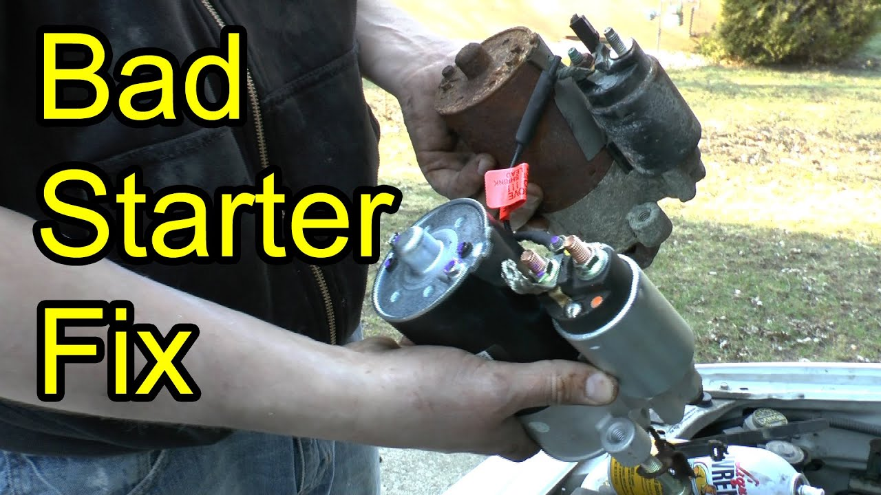 fix a bad starter 1 9 l ford escort mercury tracer full step by step instructions [ 1280 x 720 Pixel ]