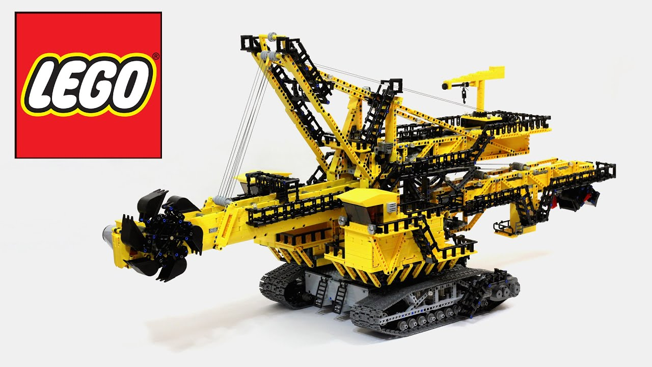 lego technic bucket wheel excavator not a 42055 set. Black Bedroom Furniture Sets. Home Design Ideas