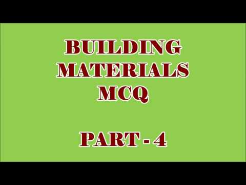 CIVIL ENGG MCQ || BUILDING MATERIALS 100 OBJECTIVE QUESTIONS AND ANSWERS || PART - 4