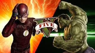 GTA V - MODS - The Flash vs HULK ! LUTA INCRÍVEL!