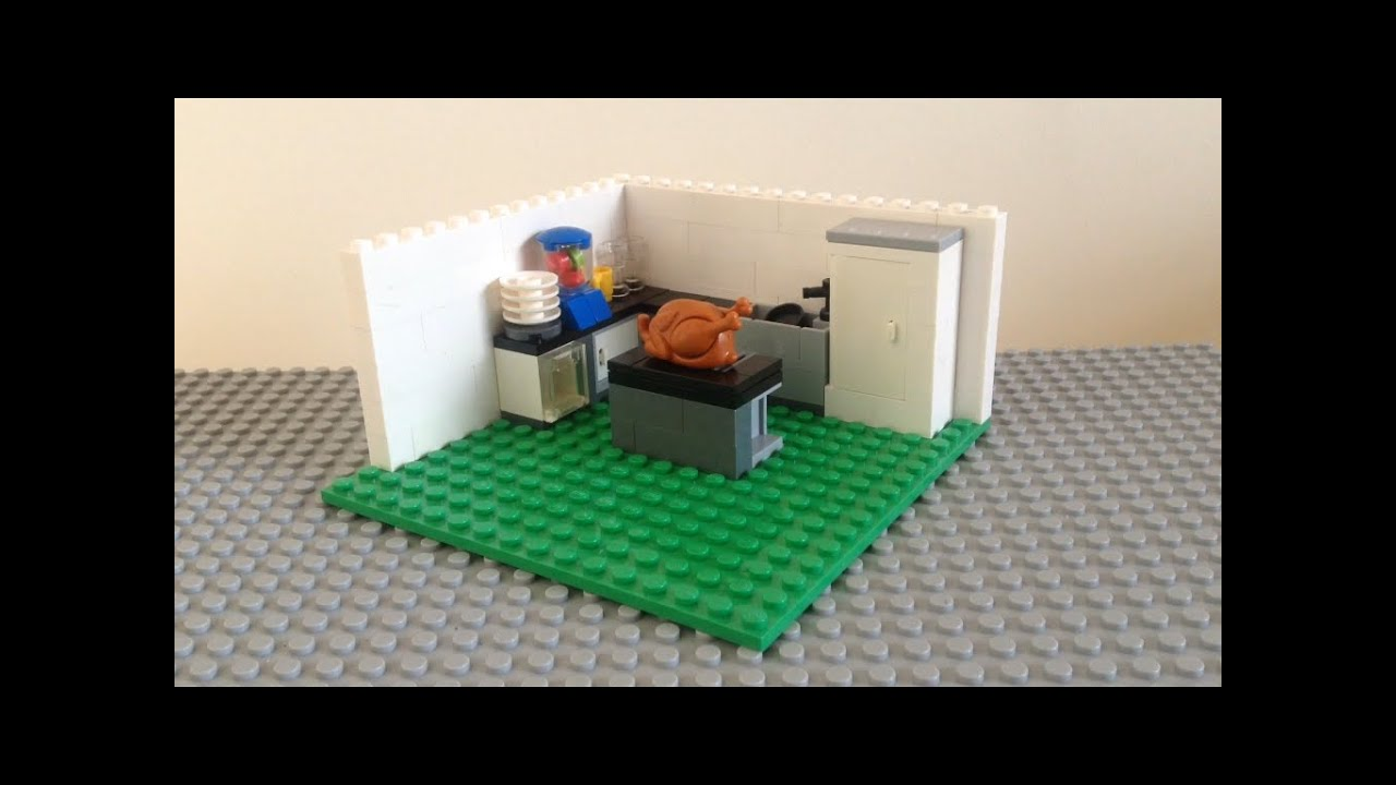 Como hacer una cocina de lego youtube for Como disenar una cocina