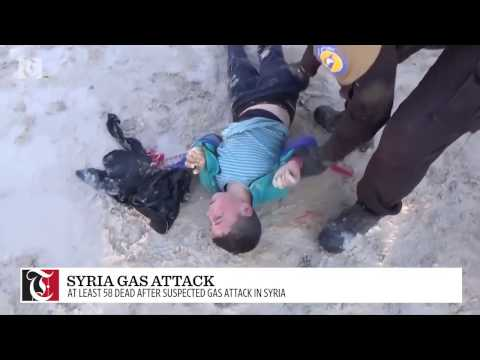 At least 58 dead after suspected gas attack in Syria
