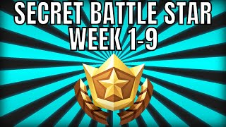 ALL Fortnite season 6 Secret Battle Star Locations week 1 to 9 - Season 6 (+loading screen week 8,9)