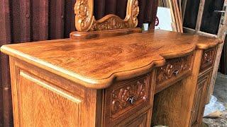 Amazing Woodworking Design Ideas & Peak Woodworking Skills // Building Vanity Table From Hardwood