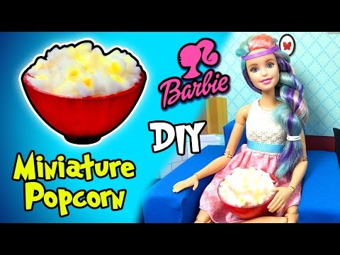 how-to-make-barbie-doll-popcorn-and-bowl---diy-easy-miniature-doll-crafts---making-kids-toys