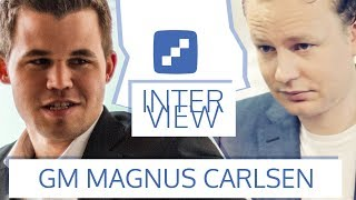 Magnus Carlsen in conversation with Jan Gustafsson
