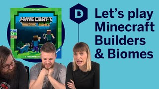 Minecraft: Builders and Biomes board game playthrough - THE CUBE