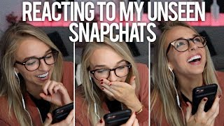 REACTING TO MY SAVED UNSEEN SNAPCHATS