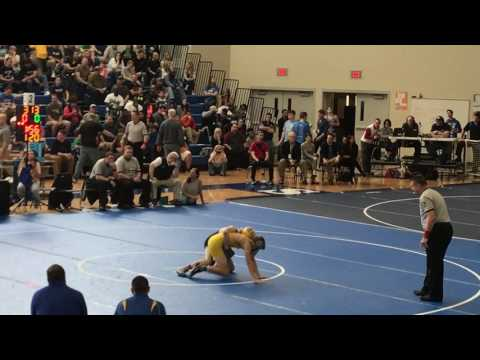 Anthony Caruso vs Cameron Hayes at DIAA Individual State Wrestling Tournament