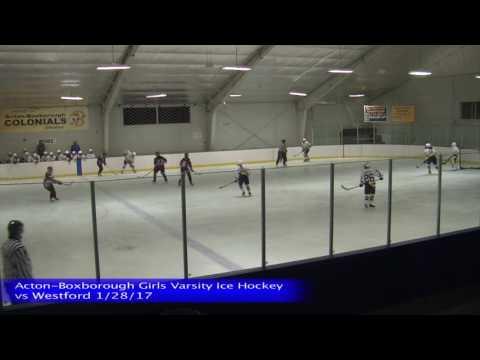 Acton Boxborough Varsity Girls Ice Hockey vs Westford 1/28/17