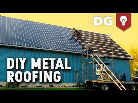 How To Install DIY Metal Roofing (House or Barn)