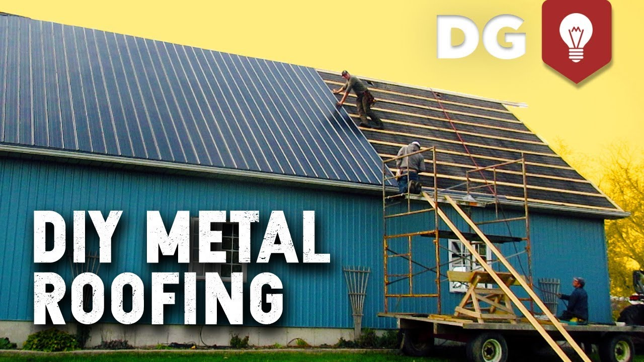 How To Install Diy Metal Roofing House Or Barn Youtube