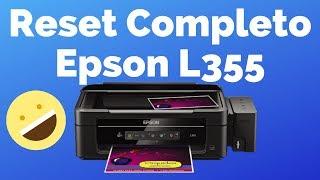 Reset Impresora Epson L355 o cualquier Epson de Manera Correcta con Mantenimiento | Varios Modelos