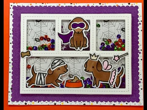 Lawn Fawn Happy Howloween Shaker Card And Chit Chat .