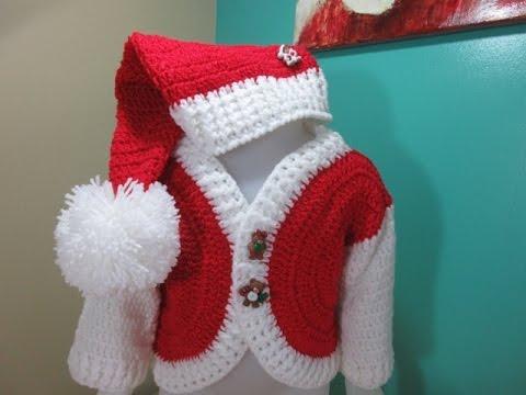 1c9be4aee Crochet baby Santa hat for beginners