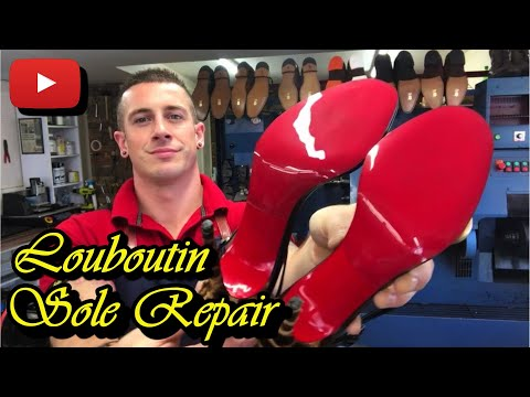 Christian Louboutin Soles Repaired! | Red Mirror Soles | Leopard Print Shoes