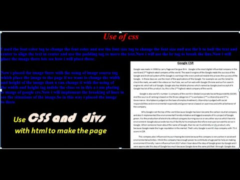 Use Divs And Css With Html.