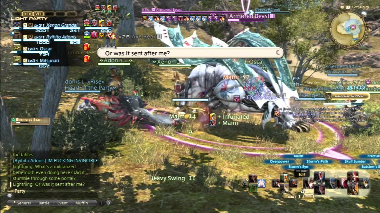 final fantasy xiv lightning event 2 lightning strikes armored