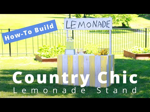 How to Build a Vintage Country Chic Lemonade Stand | DIY Project | Woodworking Project