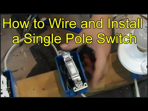 how to wire and install a single pole switch youtube. Black Bedroom Furniture Sets. Home Design Ideas