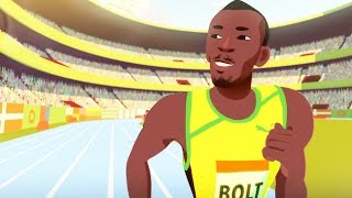 Discover the Fastest Man in The World,  Usain Bolt ?