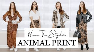 How To Style Leopard Print   Animal Print Lookbook